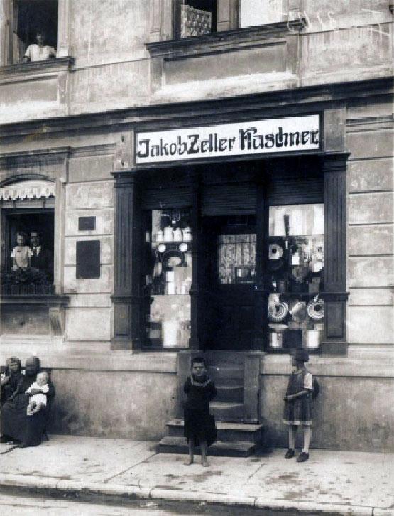 Damaliges Geschäft in der Hauptstraße