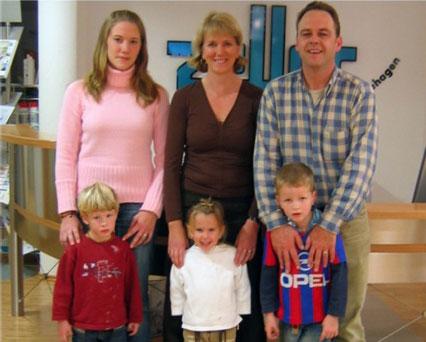 Jürgen Zeller mit seiner Familie